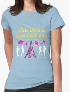 FABULOUS 50TH PARIS DESIGN Womens Fitted T-Shirt