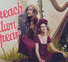 Peach Plumb Pear Sticker