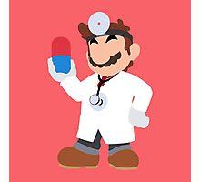 Smash Bros - Dr. Mario Photographic Print