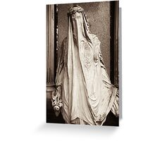 veiled in sorrow Greeting Card