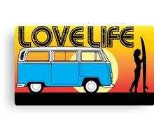 Love Life - VW Kombi Summer Surf Canvas Print