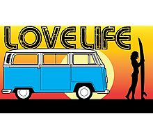 Love Life - VW Kombi Summer Surf Photographic Print