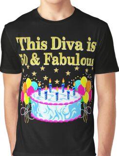 FESTIVE 50TH BIRTHDAY CELEBRATION CAKE Graphic T-Shirt