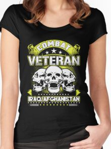 Combat Veteran Iraq and Afghanistan Women's Fitted Scoop T-Shirt