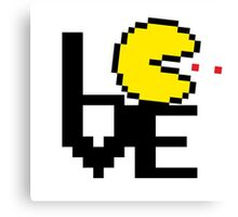 8-Bit Pacman LOVE Canvas Print