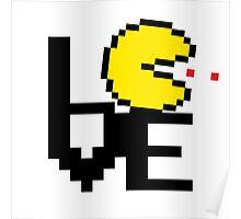 8-Bit Pacman LOVE Poster