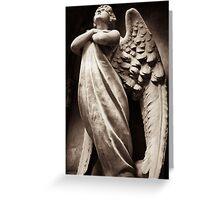 archangel in prayer Greeting Card