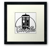 Tardis Dr Who Framed Print