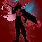 Super Smash Bros. Red Cloud Silhouette by jewlecho