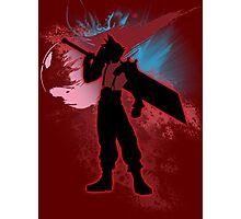 Super Smash Bros. Red Cloud Silhouette Photographic Print
