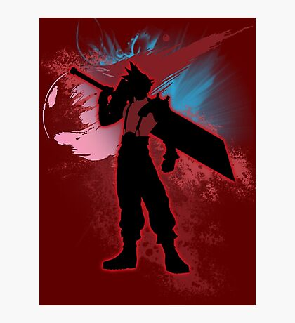 Super Smash Bros. Red Cloud Silhouette Photographic Print