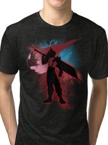 Super Smash Bros. Red Cloud Silhouette Tri-blend T-Shirt