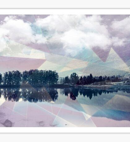 Abstract Mirror Sticker