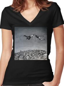 'Soaring' Women's Fitted V-Neck T-Shirt