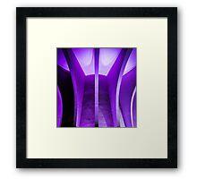 purple modernist wonder Framed Print