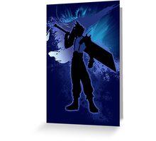 Super Smash Bros. Blue Cloud Silhouette Greeting Card