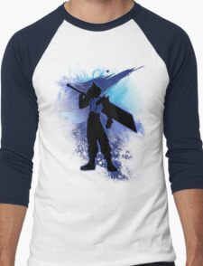 Super Smash Bros. Blue Cloud Silhouette Men's Baseball ¾ T-Shirt