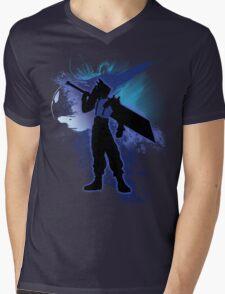 Super Smash Bros. Blue Cloud Silhouette Mens V-Neck T-Shirt