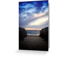 Twilight on the beach Greeting Card