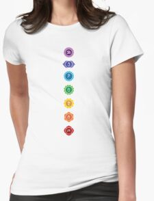 The 7 Chakras Womens Fitted T-Shirt