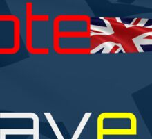 Vote Leave EU - British Flag Sticker