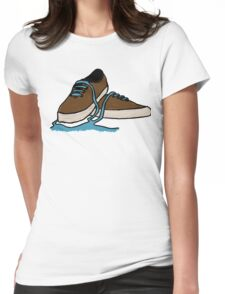 Leaking Shoe Womens Fitted T-Shirt