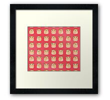 Kawaii Hamster - On Red Background Framed Print