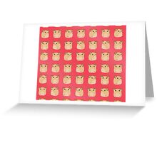 Kawaii Hamster - On Red Background Greeting Card