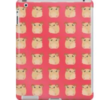 Kawaii Hamster - On Red Background iPad Case/Skin