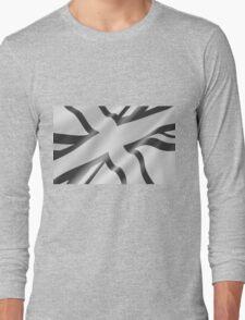 Black and White Union Jack Long Sleeve T-Shirt