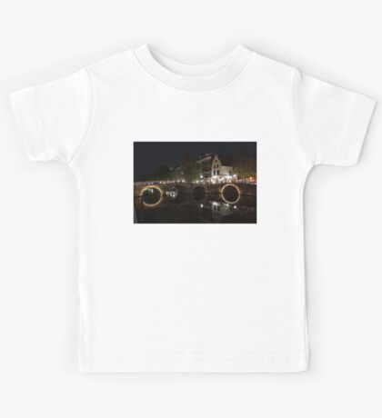 Light Trails and Circles - Reflecting on Magical Amsterdam Canals Kids Tee