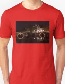 Light Trails and Circles - Reflecting on Magical Amsterdam Canals Unisex T-Shirt
