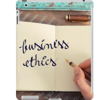 Motivational concept with handwritten text BUSINESS ETHICS iPad Case/Skin