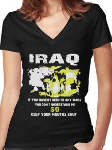 Iraq Veteran Women's Fitted V-Neck T-Shirt