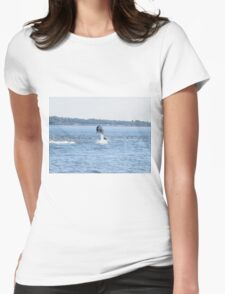 Bottle Nose Dolphin Womens Fitted T-Shirt