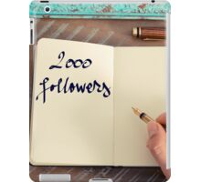 Motivational concept with handwritten text 2000 FOLLOWERS iPad Case/Skin