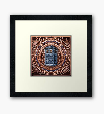 Aztec Time Travel Box full color Pencils sketch Art Framed Print