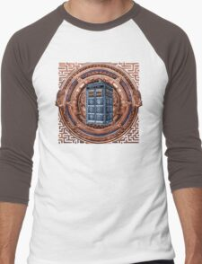 Aztec Time Travel Box full color Pencils sketch Art Men's Baseball ¾ T-Shirt