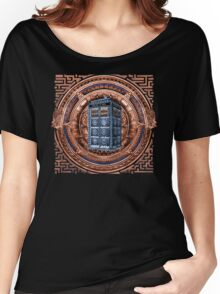 Aztec Time Travel Box full color Pencils sketch Art Women's Relaxed Fit T-Shirt