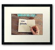 Motivational concept with handwritten text 10000 FOLLOWERS Framed Print