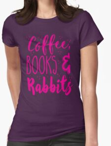 Coffee and books and rabbits T-Shirt