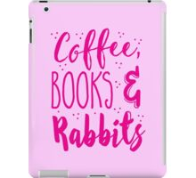 Coffee and books and rabbits iPad Case/Skin