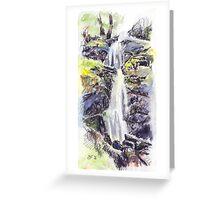 Canonteign Falls, Dartmoor Greeting Card