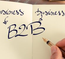 Motivational concept with handwritten text B2B as Business to Business Sticker