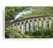 The Jacobite crossing Glenfinnan Viaduct Canvas Print