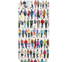 Walking People iPhone Case/Skin