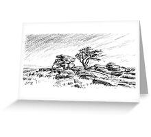 Saddle Tor, Dartmoor Greeting Card