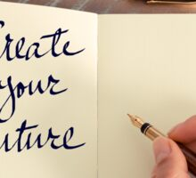 Motivational concept with handwritten text CREATE YOUR FUTURE Sticker