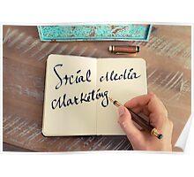 Motivational concept with handwritten text SOCIAL MEDIA MARKETING Poster