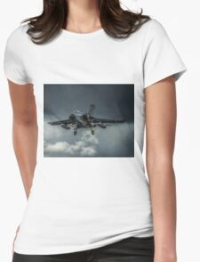 Tornado against storm clouds Womens Fitted T-Shirt